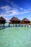 maldives villavatten Arkivfoto