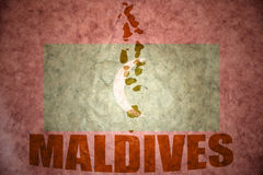Maldives vintage map Stock Photography