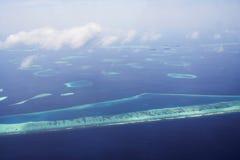 Maldives von der Luft Stockbild