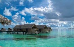 Maldives-Wasserlandhaus stockbilder