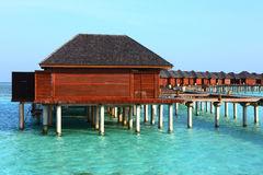 Maldives water house Royalty Free Stock Images