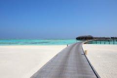 Maldives water villa Royalty Free Stock Image