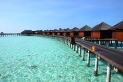 Maldives water villa Stock Photo