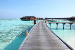 Maldives water villa Royalty Free Stock Images