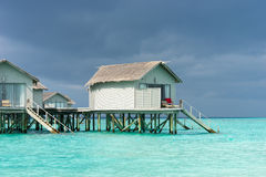 Maldives , water villas resort Stock Images