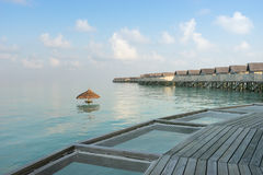Maldives , water villas resort Royalty Free Stock Photos
