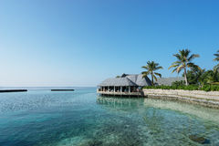 Maldives , water villas resort Royalty Free Stock Images