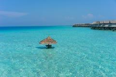 Maldives , water villas resort Stock Image