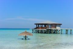 Maldives , water villas resort Stock Photography