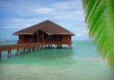 Maldives waterhous. Waterhaous on the Maldives Mehufushi stock photography
