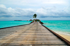Maldives, Welcome to Paradise!. Island of Paradise. White sand beaches with coco-tree and crystal blue water. Maldives. Luxury holidays Stock Image