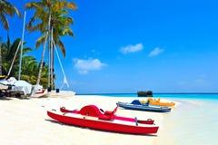 Maldives white beach Stock Image