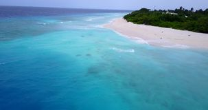 V15448 maldives white sand beach tropical islands with drone aerial flying birds eye view with aqua blue sea water and. Maldives white sand beach tropical stock footage