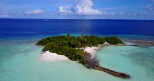 V15228 maldives white sand beach tropical islands with drone aerial flying birds eye view with aqua blue sea water and. Maldives white sand beach tropical stock video