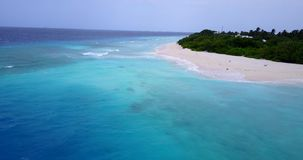 V15446 maldives white sand beach tropical islands with drone aerial flying birds eye view with aqua blue sea water and. Maldives white sand beach tropical stock video footage