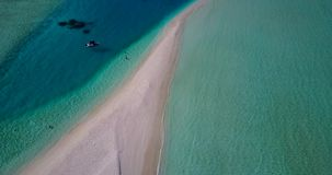 V13722 maldives white sand beach tropical islands with drone aerial flying birds eye view with aqua blue sea water and Stock Photography