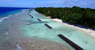 V15318 maldives white sand beach tropical islands with drone aerial flying birds eye view with aqua blue sea water and Stock Photos
