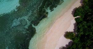 V14594 maldives white sand beach tropical islands with drone aerial flying birds eye view with aqua blue sea water and Stock Photography