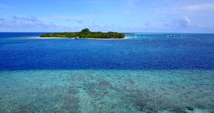 V14640 maldives white sand beach tropical islands with drone aerial flying birds eye view with aqua blue sea water and Royalty Free Stock Photo