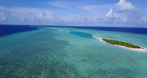 V14601 maldives white sand beach tropical islands with drone aerial flying birds eye view with aqua blue sea water and Royalty Free Stock Images