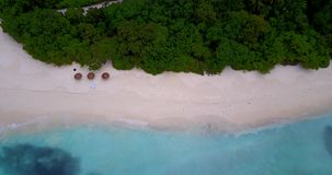 V12525 maldives white sand beach tropical islands with drone aerial flying birds eye view with aqua blue sea water and Stock Photography