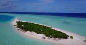 V13559 maldives white sand beach tropical islands with drone aerial flying birds eye view with aqua blue sea water and Stock Photos