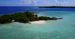 V15284 maldives white sand beach tropical islands with drone aerial flying birds eye view with aqua blue sea water and Stock Images