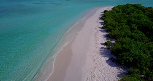 V15376 maldives white sand beach tropical islands with drone aerial flying birds eye view with aqua blue sea water and Stock Image