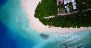 V13353 maldives white sand beach tropical islands with drone aerial flying birds eye view with aqua blue sea water and Stock Photography