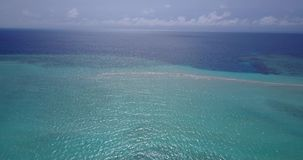 V15187 maldives white sand beach tropical islands with drone aerial flying birds eye view with aqua blue sea water and Stock Photography