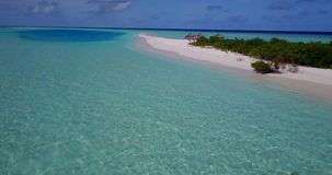 V15355 maldives white sand beach tropical islands with drone aerial flying birds eye view with aqua blue sea water and Stock Photo