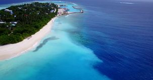 V11385 maldives white sand beach tropical islands with drone aerial flying birds eye view with aqua blue sea water and Royalty Free Stock Photography
