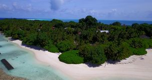 V11701 maldives white sand beach tropical islands with drone aerial flying birds eye view with aqua blue sea water and Royalty Free Stock Photo