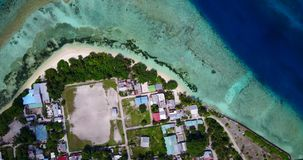 V10612 maldives white sand beach tropical islands with drone aerial flying view with aqua blue sea water and sunny sky Royalty Free Stock Photos