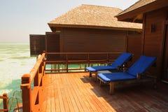 Maldives wody willa Zdjęcia Royalty Free