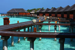 Maldives wody willa Obrazy Stock