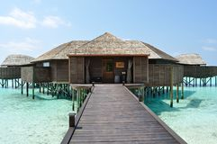 Maldives wyspy plażowi domy Fotografia Royalty Free