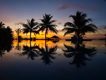 maldives zmierzch Zdjęcia Stock