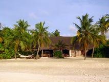 Maldivian海滩 免版税库存照片
