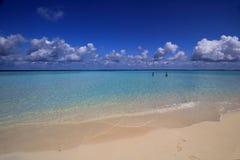 海滩maldivian 免版税库存图片