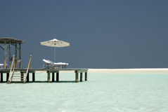 Maldivian beach Royalty Free Stock Photos