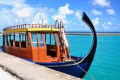 Maldivian boat at port Royalty Free Stock Image