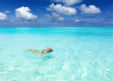 Maldivian coast travel to paradise Royalty Free Stock Images
