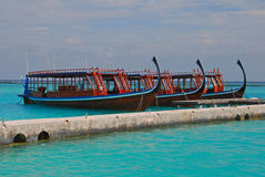 Maldivian Dhoni Cruises Stock Photos