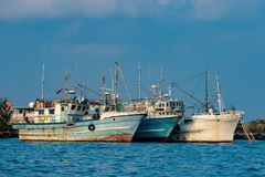 Maldivian fishing boat in male Stock Photos