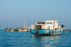 Maldivian fishing boat in male Royalty Free Stock Photo