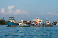 Maldivian fishing boat in male Royalty Free Stock Photography