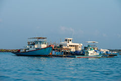 Maldivian fishing boat in male Stock Images