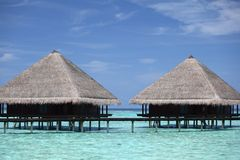 Maldivian houses Royalty Free Stock Photography
