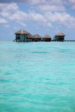 Maldivian houses Royalty Free Stock Photos